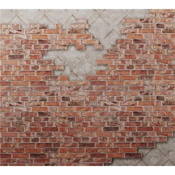 Luxusné vliesové fototapety tehlová stena BEZ TEXTU 300 x 270cm