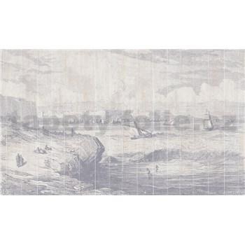Luxusné vliesové fototapety more a lodě BEZ TEXTU 450 x 270cm