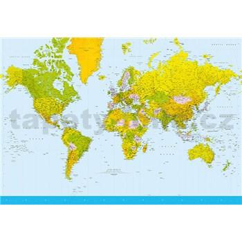 Fototapety Map of the World, rozmer 366 x 254 cm