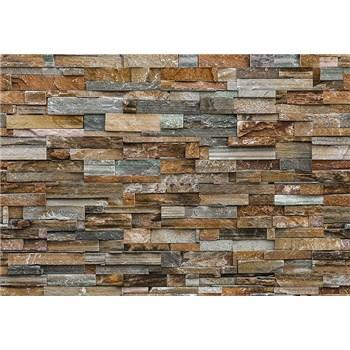 Fototapety kamenný múr Colorful Stone Wall, rozmer 366 x 254 cm