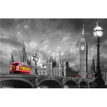 Fototapety Bus on Westminster Bridge, rozmer 175 x 115 cm