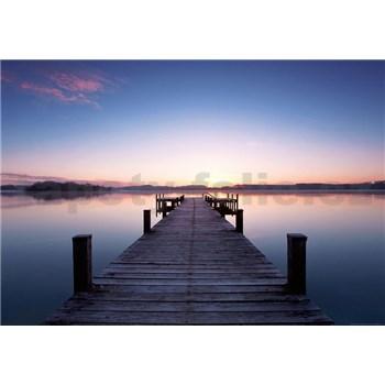 Vliesové fototapety molo Pier At Sunrise, rozmer 366 x 254 cm