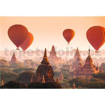 Vliesové fototapety balóny Ballons Over Bagan, rozmer 366 cm x 254 cm