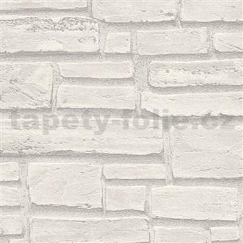 Vliesové tapety IMPOL Wood and Stone 2 tehla sivá