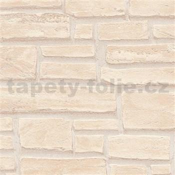 Vliesové tapety IMPOL Wood and Stone 2 tehla béžová