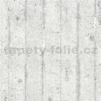 Vliesové tapety IMPOL Wood and Stone 2 betónová stena sivá
