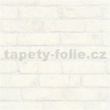 Vliesové tapety IMPOL Wood and Stone 2 tehly so štruktúrou krémovo biele