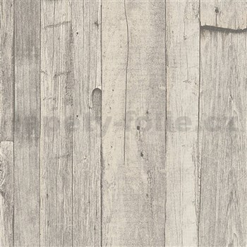 Vliesové tapety IMPOL Wood and Stone 2 vintage style drevo sivo-béžové