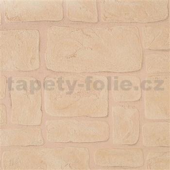 Vinylové tapety na stenu Adelaide kamene svetlo hnedé