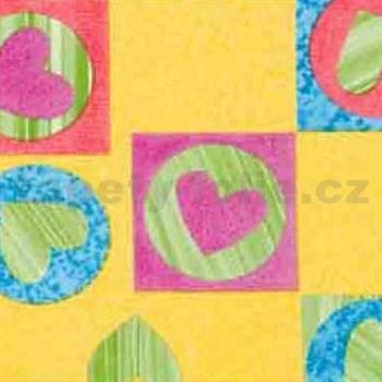 Samolepiace tapety detské - srdiečka 45 cm x 15 m