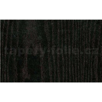 Samolepiace tapety - čierne drevo - 67, 5 cm x 15 m