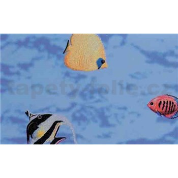 Samolepiace tapety - transparentná - rybičky 45 cm x 15 m