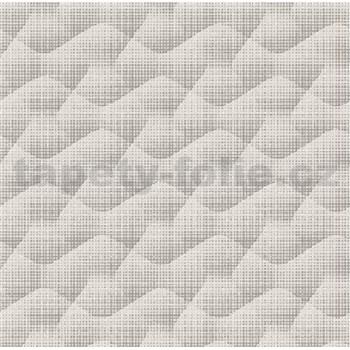 Vliesové tapety na stenu Allure vlnovky sivé s trblietkami