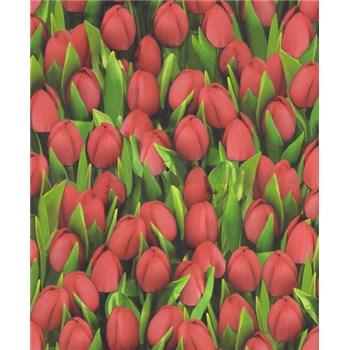Vinylové tapety na stenu Allure tulipány červené