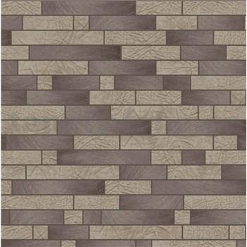 Vliesové tapety na stenu Allure štvorčeky čierno-béžové