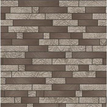 Vliesové tapety na stenu Allure štvorčeky hnedé