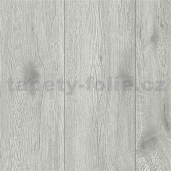 Vliesové tapety na stenu Wood'n Stone drevo dubové sivé