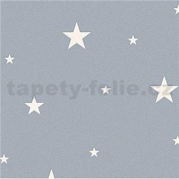 Vliesové tapety na stenu Il Decoro hviezdičky strieborné na sivom podklade