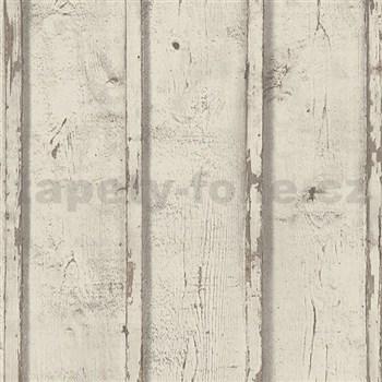 Vliesové tapety na stenu Wood'n Stone dosky drevené hnedé - POSLEDNÉ KUSY