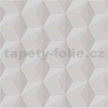 Vliesové tapety na stenu Esprit 3D abstrakt svetlo hnedý s leskom