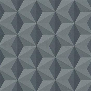 Vliesové tapety na stenu Esprit 3D abstrakt sivý s leskom