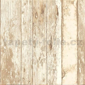 Vliesové tapety na stenu Splendour drevené dosky hnedo-béžové