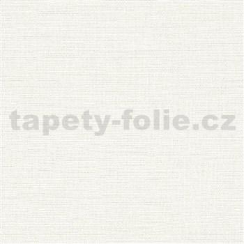 Vliesové tapety na stenu Avalon textilná štruktúra biela