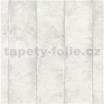 Vliesové tapety na stenu Avalon omietkovina v pruhoch krémová