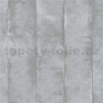 Vliesové tapety na stenu Avalon omietkovina v pruhoch strieborno-sivá