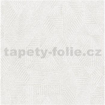 Vliesové tapety na stenu Avalon geometrický vzor svetlo sivý