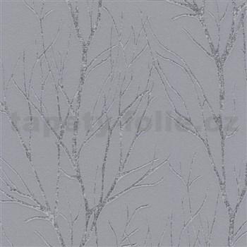 Vliesové tapety na stenu Blooming florálny vzor sivý