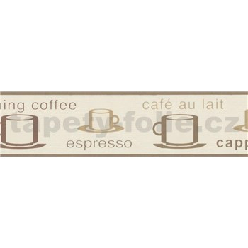 Vinylová bordúra coffee 5 m x 13,3 cm