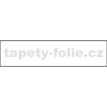 Samolepiace bordúry jednofarebná biela 10 m x 4 cm