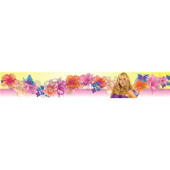 Bordúra Hannah Montana s kvetmi a motýli 5 m x 10,6 cm - POSLEDNÝ KUS