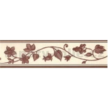 Samolepiaca bordúra - réva hnedá 5 m x 5 cm
