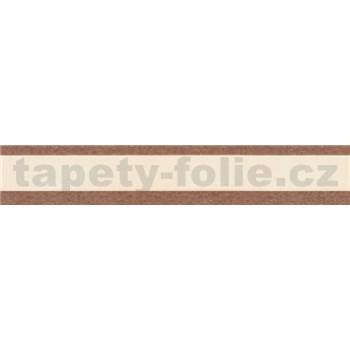 Samolepiace bordúry pruhy hnedé 5 m x 5 cm