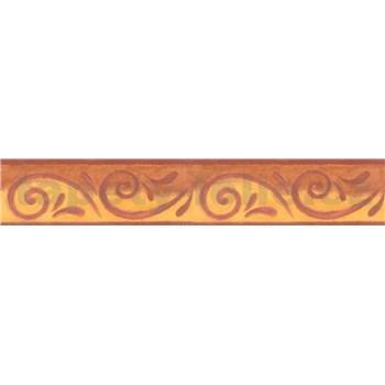 Bordúra antický vzor žltohnedý 5 m x 10,6 cm