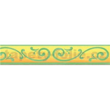 Bordúra renesančný vzor zelený 10 m x 5 cm