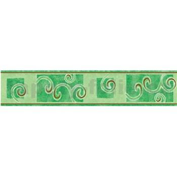 Bordúra špirály zelené 10 m x 5 cm