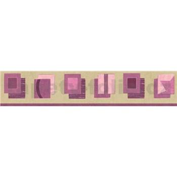 Bordúra štvorčeky fialové 10 m x 5 cm