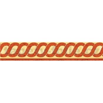 Bordúra antický vzor okrový 10 m x 5 cm
