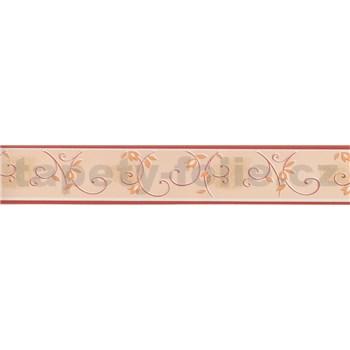 Moderná bordúra - popínavé stonky - červená 5 m x 4,5 cm