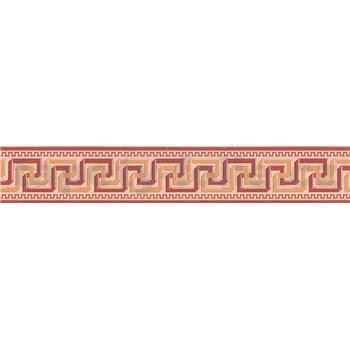 Moderná bordúra s gréckym vzorom - červená