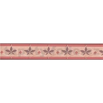 Moderná bordúra s lístkami - hnedá 5 m x 4,5 cm