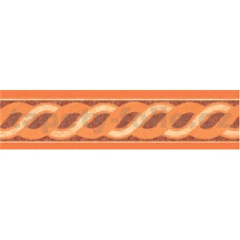 Samolepiaca bordúra vlnovky oranžové 10 m x 5,3 cm