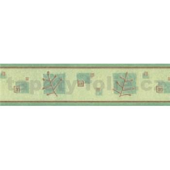Samolepiaca bordúra vetvičky zelené 10 m x 5,3 cm
