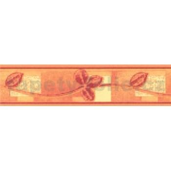 Samolepiaca bordúra lístky červeno-žlté 10 m x 5,3 cm