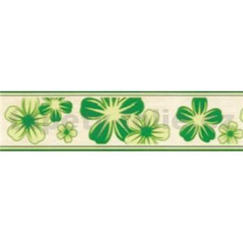 Samolepiace bordúry kvety zelené 5 m x 5 cm