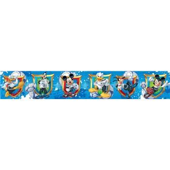 Bordúra detská 5 m x 10,6 cm Mickey Mouse, Donald, Goofy
