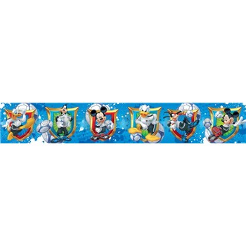 Bordúra detská 5 m x 10,6 cm Mickey, Donald, Goofy